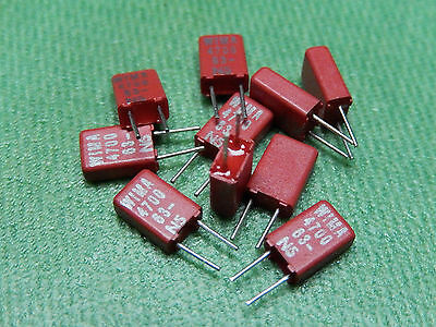 10x WIMA Capacitor MKS02 0.0047µF 63V Pitch = 2.5mm