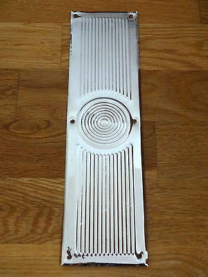 Nickel Plated Beehive Finger Door Push Plates Fingerplate