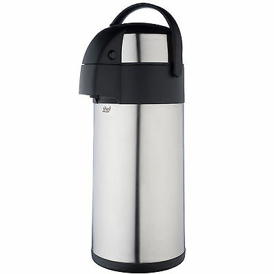 VonShef Air Pot Flask Stainless Steel for Hot & Cold Drinks [5 Litres]
