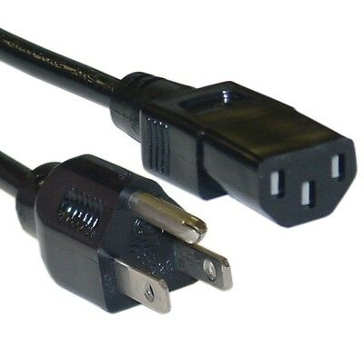 STANDARD 3 Prong IEC320C13 to NEMA5-15P Universal Appliance Computer Power Cord