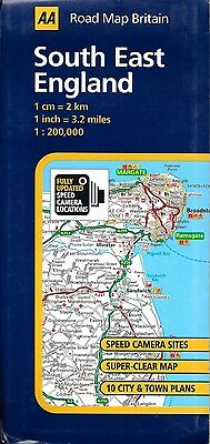 Road Map of South East England, Great Britain, by AA Road Map Britain