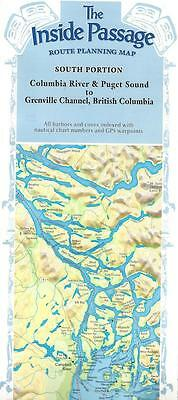 Inside Passage, South Portion, Puget Sound, British Columbia, Route Planning Map