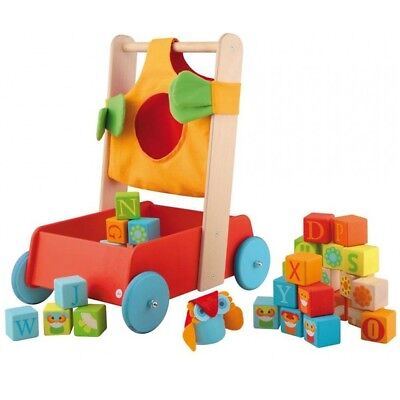Sevi 82721 - Walker with Building Blocks of Wood