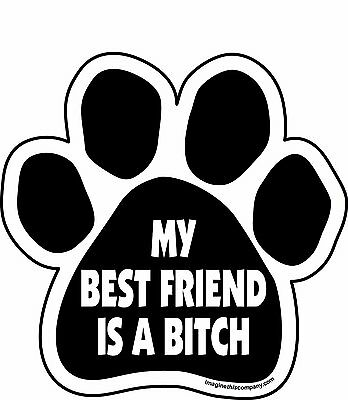 "My Best Friend is a Bitch Paw Magnet Dog Cat 5.5"" x 5.5"" Shaped Puppy Kitten"