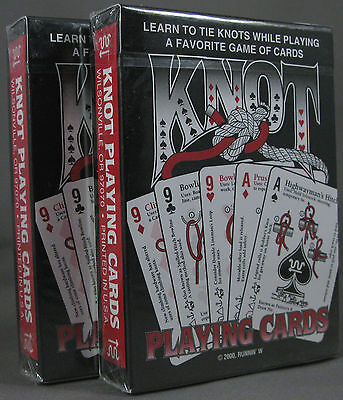 Knots Cards 2 Decks Fishing Rope Bug Out Gear Disaster Survival Kit Survivalist