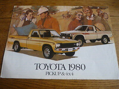 TOYOTA PICKUP AND 4 x 4 VERY OVERSIZED SALES CATALOGUE  1980 CANADIAN