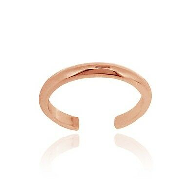 18K Rose Gold over 925 Silver Polished Toe Ring