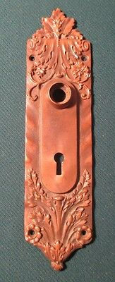 Ornate Russell & Erwin Antique Eastlake Door Bronze Escutcheon Key Hole Cover