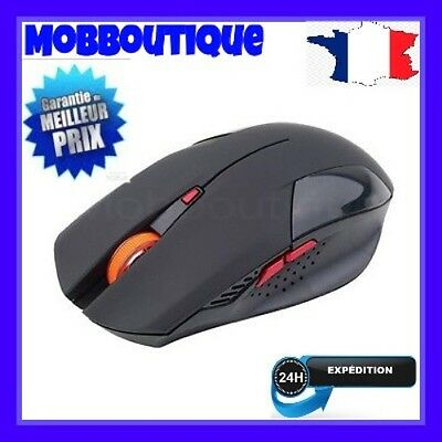 2400Dpi Souris Sans Fil 6 Boutons Usb Optical Gaming Mouse Noir //france??