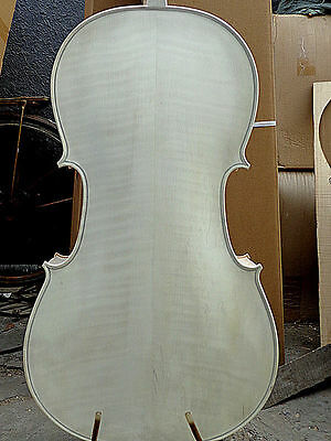 White Cello 4/4 size flamed maple back old spruce top hand made cello
