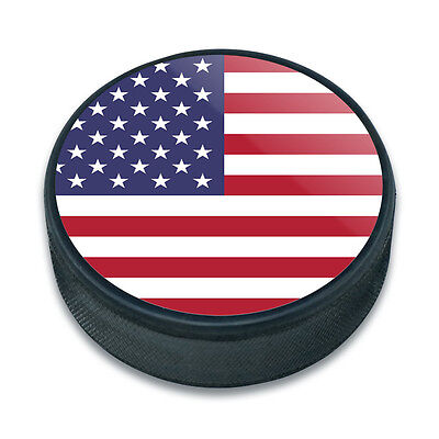 Ice Hockey Puck Country National Flag T-Z
