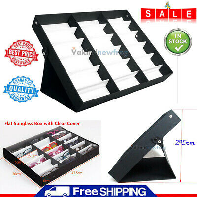 18 Slot Sunglasses Display Rack Eyeglasses Storage Case Organizer Box Holder New