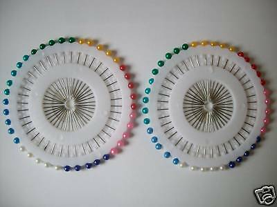 Quality 80 Multicoloured Pearl Head Dressmakers Pins.