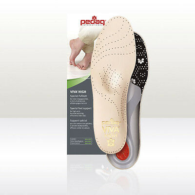 Pedag Viva High For High Arch Support Anti Odour Prime Leather Upper Uk 3 - 12