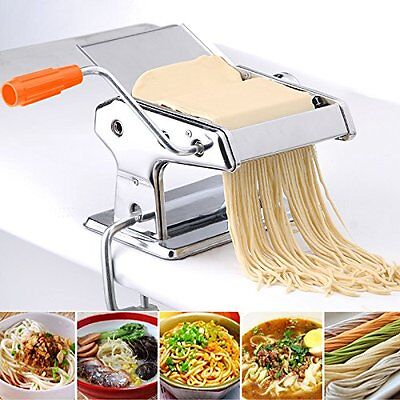 "Pasta Maker Roller Machine 7"" Dough Making Fresh Noodle Maker Stainless Steel"