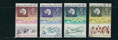 BRITISH ANTARCTIC TERRITOTY BAT 1971 10th ANNIVERSARY (Scott 39-42) VF USED