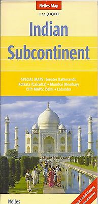 Nelles Map of Indian Subcontinent, India, Pakistan, Afghanistans, Nepal, Bhutan