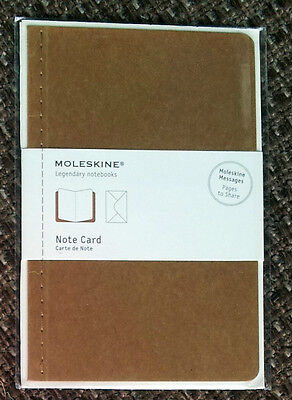 6 pc Moleskine Note Cards Gift Cards 4 Sided incl. Envelopes