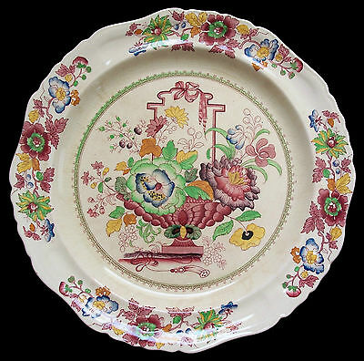 MASON'S - 'Strathmore' - Antique Transfer Decorated Platter - U.K. - Circa 1925