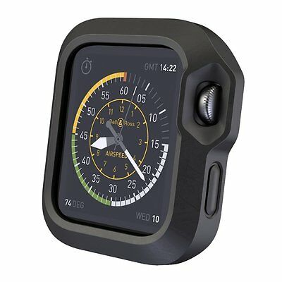 ONYX BLACK SPORT Cover Protector Case Bumper Skin For 42MM APPLE WATCH iWatch