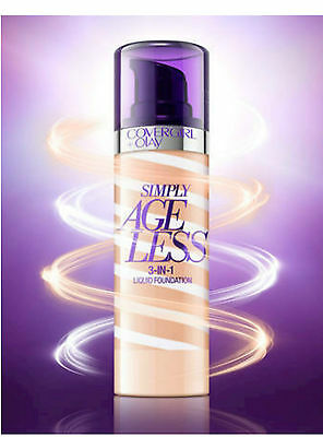 COVERGIRL & OLAY SIMPLY AGELESS 3 in 1 LIQUID FOUNDATION NEW PLEASE SELECT SHADE