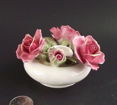 Royal Albert Centennial Rose Candle Holder With Flowers