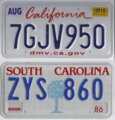 Various states, various prices AMERICAN LICENSE PLATE California, Mississippi