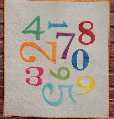 Playing With Numbers - fun applique quilt PATTERN for kids