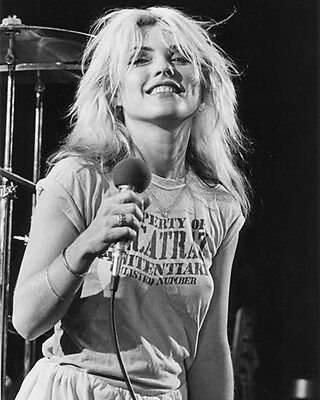 Blondie Debbie Harry Superb BW Alcatraz 10x8 Photo