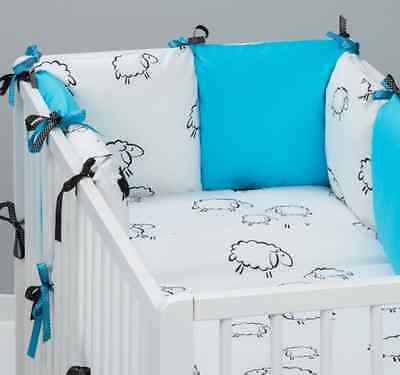 8 pcs COT / COT BED  BEDDING SET PILLOW BUMPER SHEEPS PILLOW CASE DUVET COVER