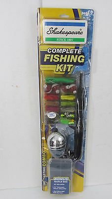 Shakespeare Spincasting Combo Complete Fishing Kit Reel Rod Bait Tackle NEW