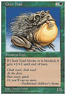 4x Rospo Paffuto - Chub Toad MTG MAGIC 5E Eng