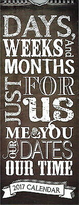 2017 Me & You His & Her Month To View Wall Calendar - Spiral Bound -For 2 People