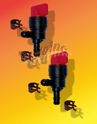"2 fits Briggs Stratton 49476 Inline Fuel Cut Off Valves 1/4""  Gas Shut off Valve"