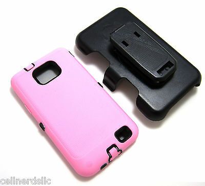 Samsung Galaxy S2 SGH-S959G Case cover and HOLSTER w/ BUILT IN SCREEN Light Pink