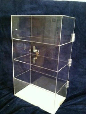 """Acrylic Counter TOP Display Case 12"""" x 6"""" x 19.5"""" Locking Security Show Case"""