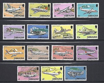 GIBRALTAR 1982 AEROPLANE definitives set complete VF MNH