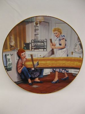 """I Love Lucy Hamilton Collection Plate """"A Rising Problem"""" by Jim Kritz"""