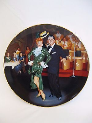 """I Love Lucy """"Night At The Copa"""" collector plate"""