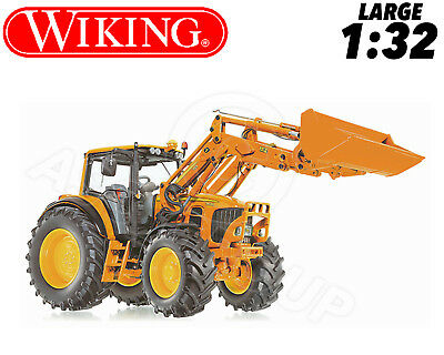 Wiking 077342 John Deere 7430 Tractor Loader & Accessories 1:32 Collectors Model