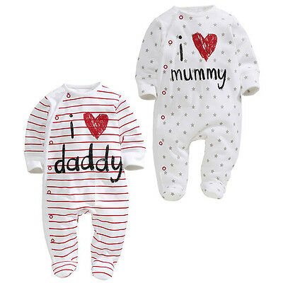 Newborn Baby Kids Boy Girl Cartoon Bodysuit Outfit Costume Romper Cotton Clothes