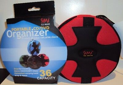 Simi Brand Portable CD/DVD Organizer  36 hand strap NEW