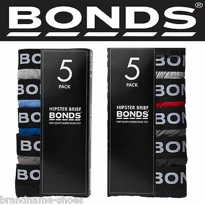 Authentic Bonds Men's 5 Pack Hipster Brief Briefs Underwear Cotton S M L XL 2XL