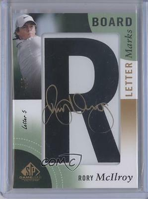 2014 SP Game Used Edition #LL-RM.5 Rory McIlroy (Letter 5 R) /5 Auto Card 3h7