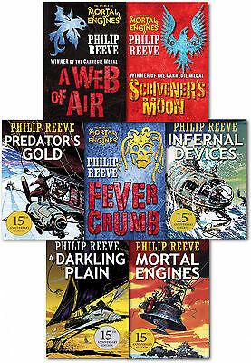 Mortal Engines Collection Philip Reeve 7 Books Box Set Predator Cities A Web of