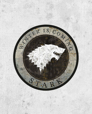 House Stark Sticker! Game Of Thrones, Winter is Coming, grey direwolf, Jon Snow