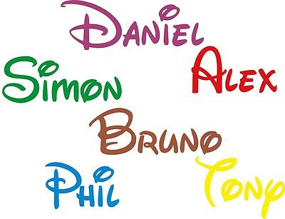 GIRLS- BOYS NAME Personalised Disney Style  Wall Art BEDROOM STICKERS