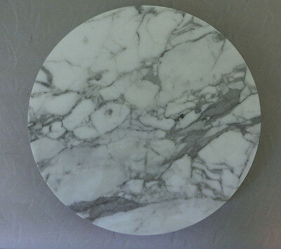 """Marble Stone Round Spinning Hot Serving Tray Trivet 12"""" Hot Dish Pad"""