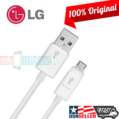 Original LG V10 G4 Flex Data Cable 1.8A 4FT MicroUSB Data Sync Fast Charger Cord