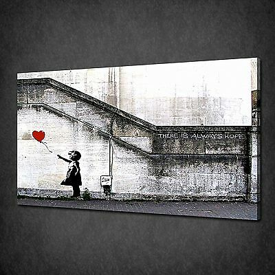 Banksy Balloon Girl Always Hope Graffiti Many Colours Canvas Print Art Poster
